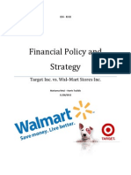 Financial Policy and Strategy