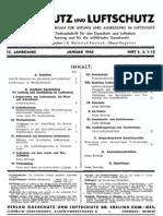 Gasschutz und Luftschutz 15.Jahrgang 1945 / Zeitschrift für das gesamte Gebiet des Gas- und Luftschutzes der Zivilbevölkerung