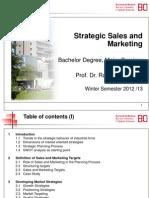 Skript Strategic Sales and Marketing WS 2012