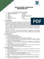 PLAN ANUAL DE TUTORÍA Y ORIENTACIÓN EDUCACIONAL 2012 suyobamba