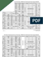 Timetable Spring 2013