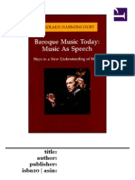Harnoncourt - Music as Speech