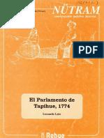 León, Solis, Leonardo, El parlamento de Tapihue, 1774