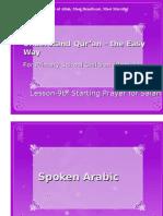 Quran CCE 09b Starting Prayer