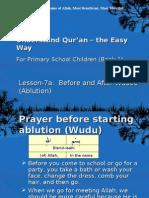 Quran CCE 07a Wudoo