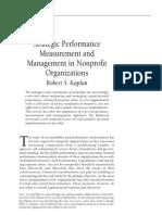 Kaplan - Strategic Performance Measurement and Management in Nonprofit Organizations