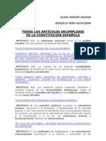 TODOS LOS ARTICULOS INCUMPLIDOS DE LA CONSTITUCION ESPAÑOLA