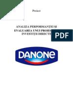 Proiect Investitii Directe- DANONE