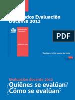 resultadosevaluaciondocente2012