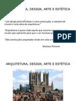 Arquitetura, Arte, Design e Temporalidade 2012