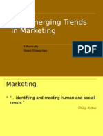 The Emerging Trends in Marketing 2013