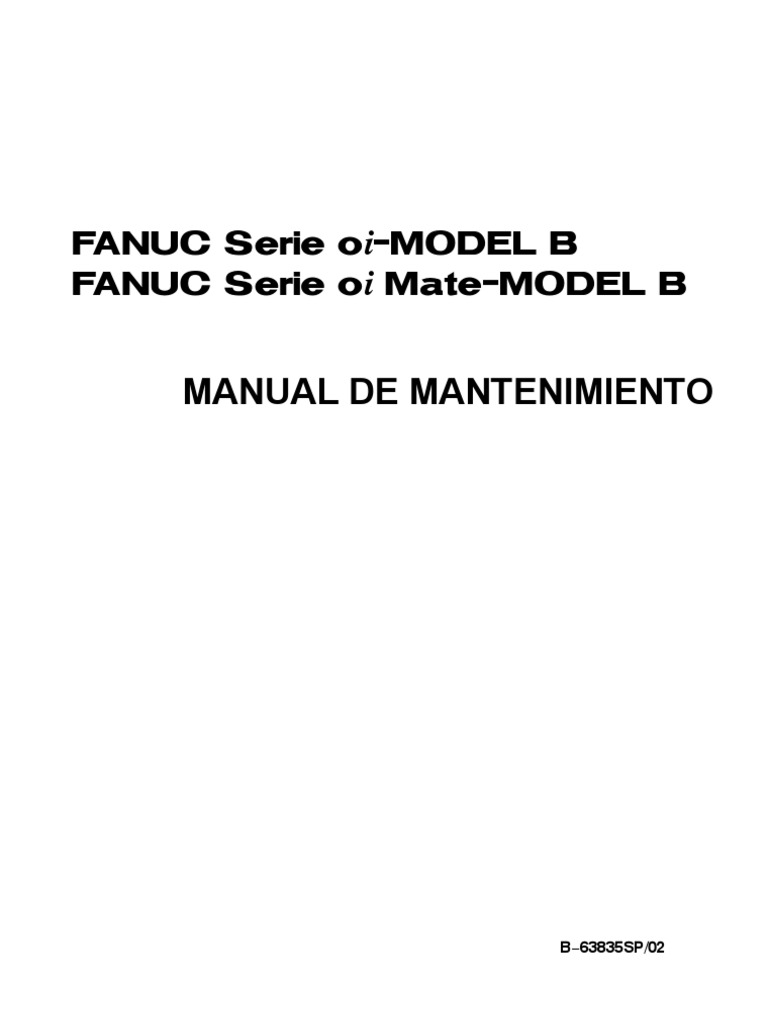 FANUC Serie oi−MODEL B manual.
