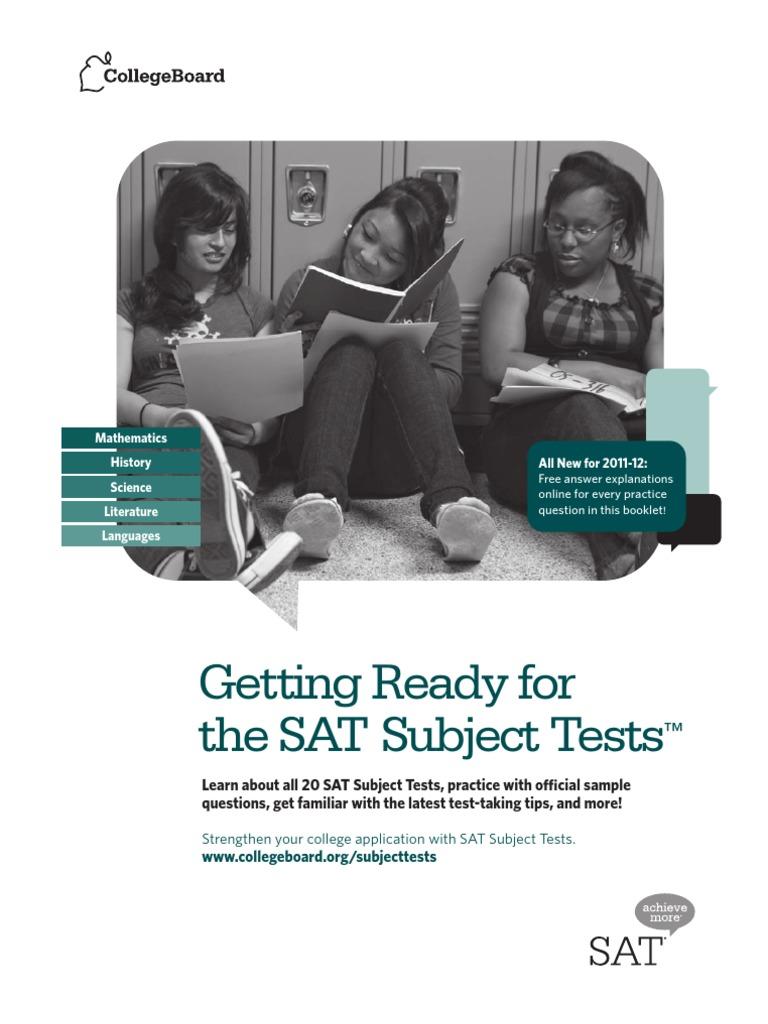 Sat Subject Tests Practice.pdf | Sat | Test (Assessment)