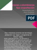 Aplicaciones colombianas tipo exportación
