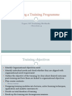 Designing a Training Programme