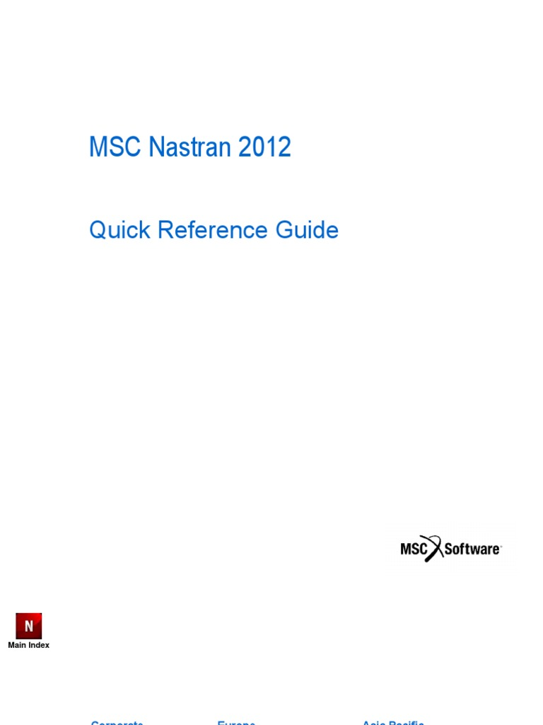 msc nastran quick reference guide msc nastran 2012 quick reference guide rh scribd com