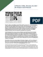 Examining Carol Morley's Film, 'Dreams of a Life'- The Complex Life of Joyce Carol Vincent