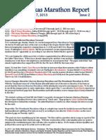 Texas Marathon Report, Issue 2, April 7, 2013