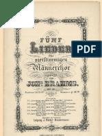 Brahms Opus041 5 Lieder