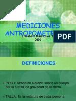 MEDICIONES  ANTROPOMETRICAS
