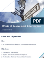 effects of government intervention