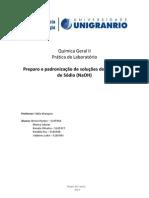 Química Geral II - pratica de laboratorio.docx