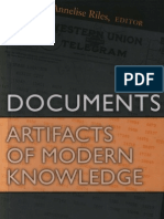 Riles,Annelise. Documents. Artefacts of Modern Knowlodge