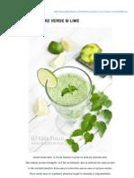 Edithskitchen.ro-smoothie Cu Orz Verde Si Lime