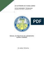 MANUAL DE LABORATORIO DE QUÍMICA