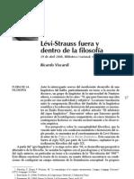 Lévi Strauss fuera y dentro de la filosofía. R. Viscardi