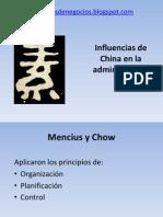 Influencias de China en la administración