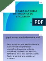 Matriz de Evaluacion Idel Vexler