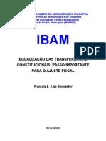 EQUALIZACAO TRANSFERENCIAS CONSTITUCIONAIS