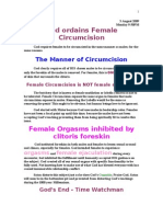 3 August 2009, God Ordained Female Circumcision