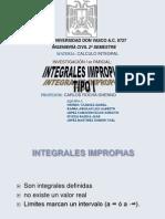 Integrales improfias infinitas