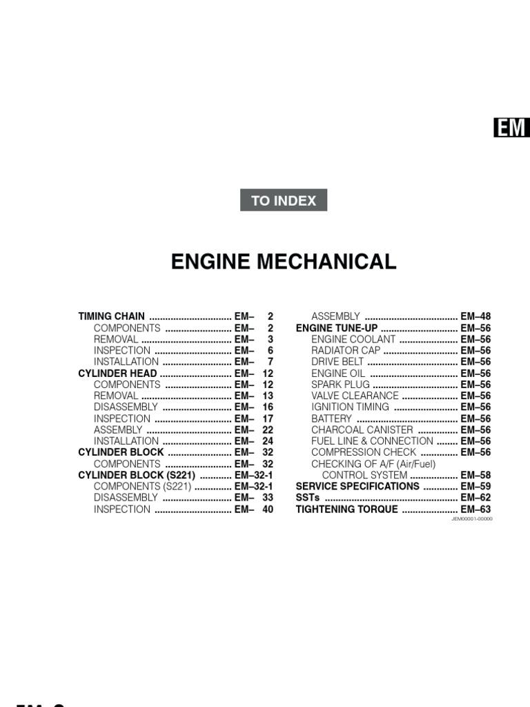 K3ve Ecu Wiring Diagram Data Library Moen L82383 Parts List And Ereplacementpartscom Daihatsu K3 Vet Engine Mechanical Manual Book Engineering Rh Es Scribd Com Subaru Harness