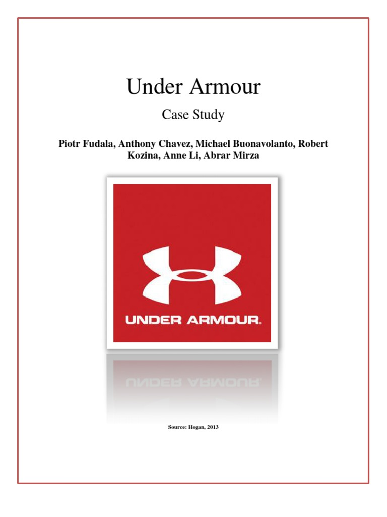 Under armour case report strategic management brand falaconquin