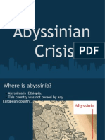 Abyssinian Crisis Where is Abyssinia? Abyssinia is Ethiopia. This