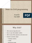 Notes for SAS Programming Fall2009