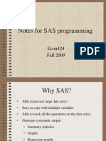 Notes for SAS Programming Fall2009