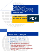 Different Tools of Analysis