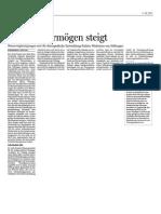 Handelsblatt – 11.06.2007 - Stiftungsvermögen steigt