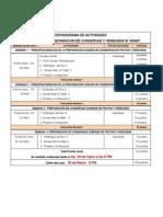 Cronograma de Activdades Curso de Preparacion de Conservas de Fruver