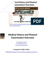 IVMS ICM-Medical History and Physical Examination Overview