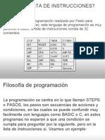 ++++++++++++++++++++++Lista de Instrucciones Plc Festo