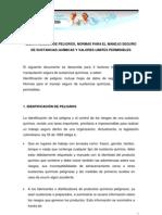 2. IDENTIFICACIÓN DE PELIGROS, NORMAS PARA EL MANEJO SEGURO