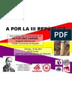 Cartel acto III República