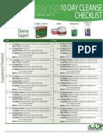 10 day cleanse checklist