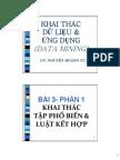 Slides Luật kết hợp và Tập phổ biến (Phần 1)