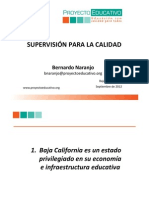Presentacion Supervision Para La Calidad Bernardo Naranjo Sept 2012